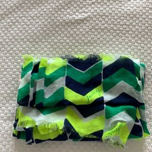 Juicy Couture Chevron stripe bold print scarf